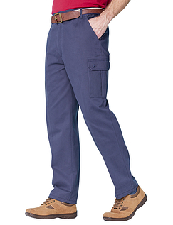 Cotton Cargo Style Trouser - Navy