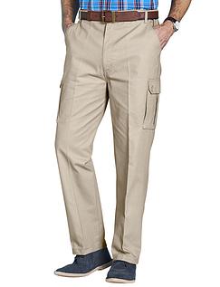 Cotton Cargo Style Trouser - Stone