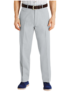 Pegasus Cotton Chino With Stretch Waistband - Silver