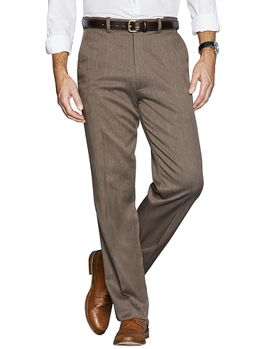 Brushed Back Smart Trousers