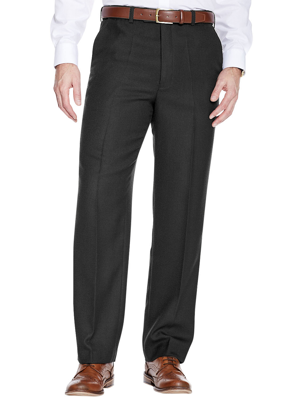 High Waisted Cavalry Twill Wool Blend Trouser - Black