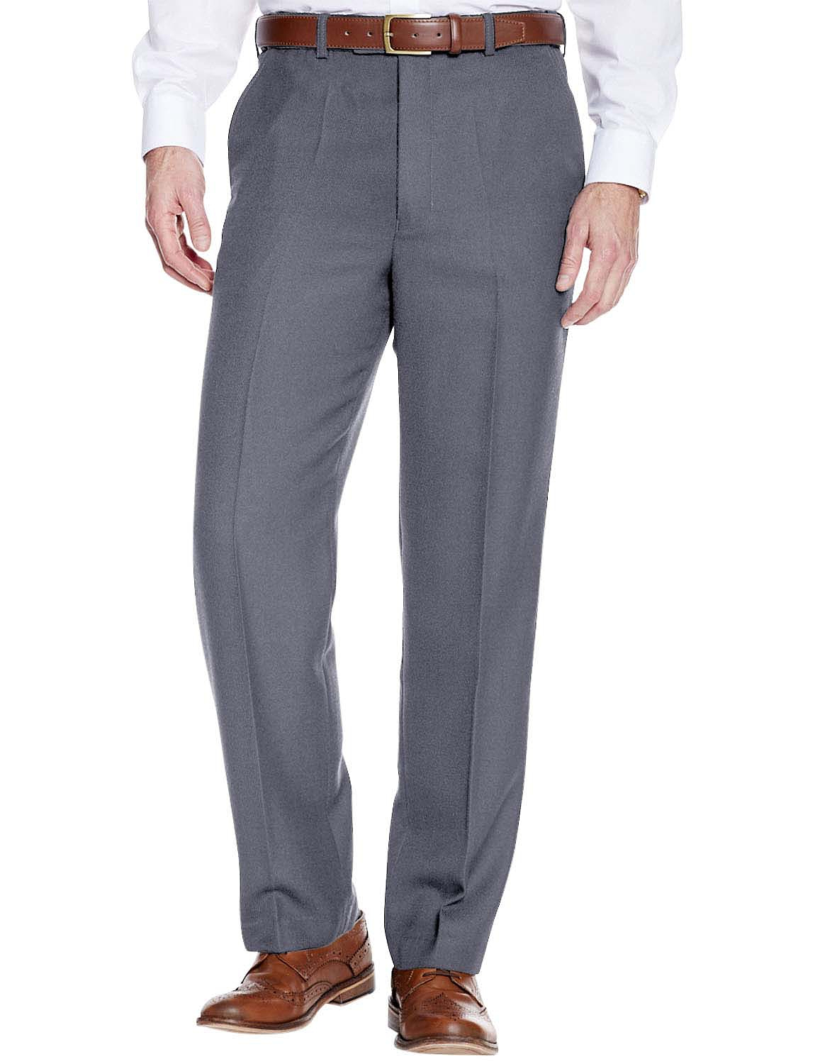 High Waisted Cavalry Twill Wool Blend Trouser - Grey