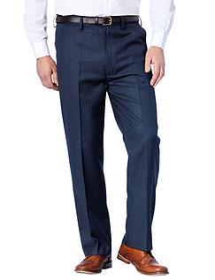 High Waisted Woolblend Trouser - Navy