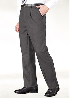 High Waist Formal Trouser With Stretch Waistband - Grey