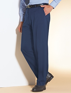 High Rise Easy Care Smart Trouser - Navy