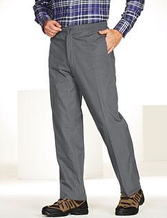High Waist Fleece Lined Pull On Drawcord Trouser