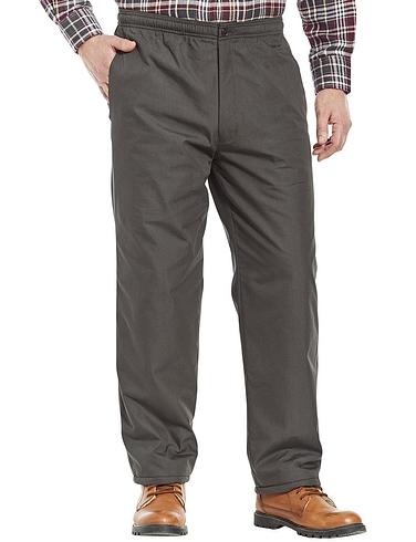 High Waist Fleece Lined Pull On Trouser