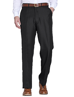 High Rise Polyester Twill Trouser With Stretch Waist