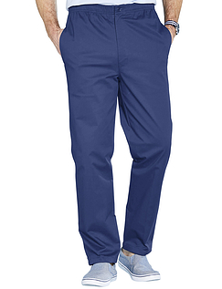 High Waist Easy Pull On Cotton Trouser