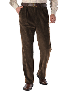 High Waisted Corduroy Trouser - Brown