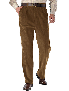 High Waisted Corduroy Trouser - Fawn