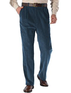 High Waisted Corduroy Trouser - Petrel