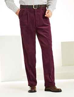 High Waisted Corduroy Trouser - Wine