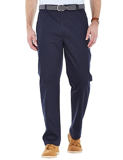 Stain Resistant High Rise Trouser - Navy