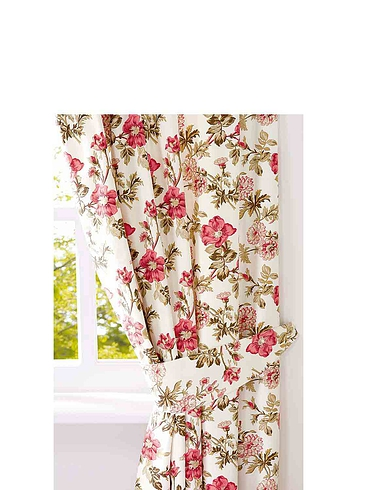 Wild Rose Lined Curtains & Free Tie-Backs