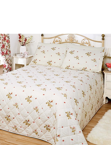 Wild Rose Throwover Bedspread