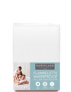 Downland Luxury Flannelette Waterproof Pillow Protector