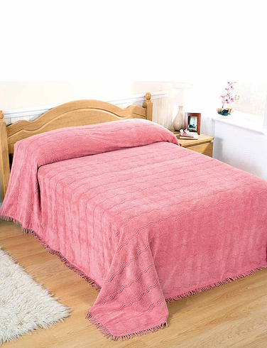 CLASSIC LUXURY CANDLEWICK BEDSPREAD MADE IN BRITAIN BY DIANA COWPE