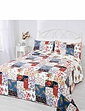 MEADOW PATCHWORK THROWOVER BEDSPREAD SET