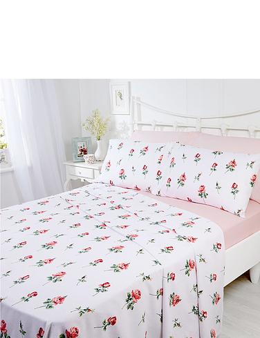 Rosebud Flanelette Sheet Set