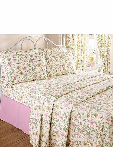 Vantona Cottage Garden Flannelette Sheet Set