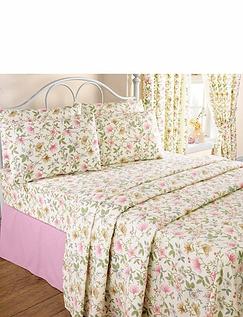Cottage Garden Flannelette Bedding By Vantona - Sheet Set