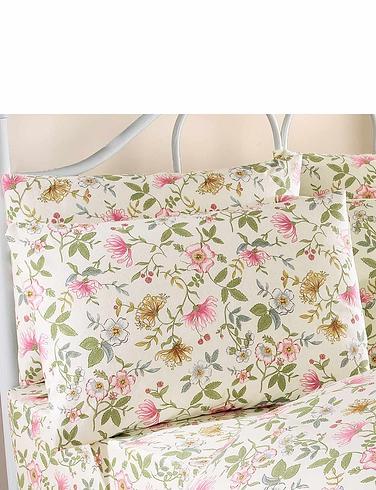 Vantona Cottage Garden Flannelette Pillowcases