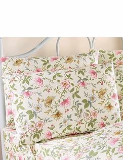 Cottage Garden Flannelette Bedding By Vantona - Pillowcases