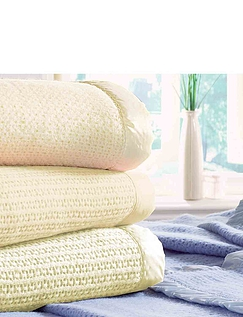 Wool Cellular Blankets By Diana Cowpe