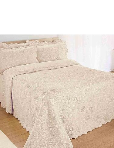 Flores Jacquard Throwover Bedspread