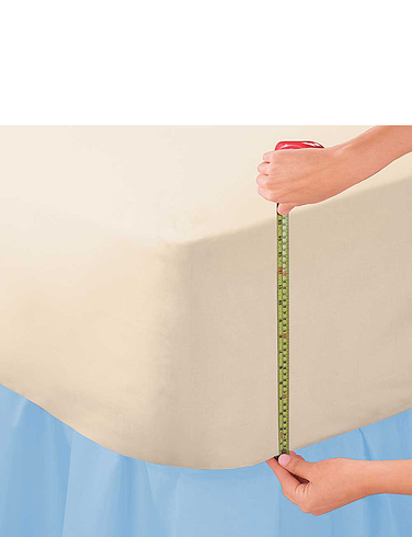 Extra Deep Poly/Cotton Fitted Sheets 15 Inch Deep