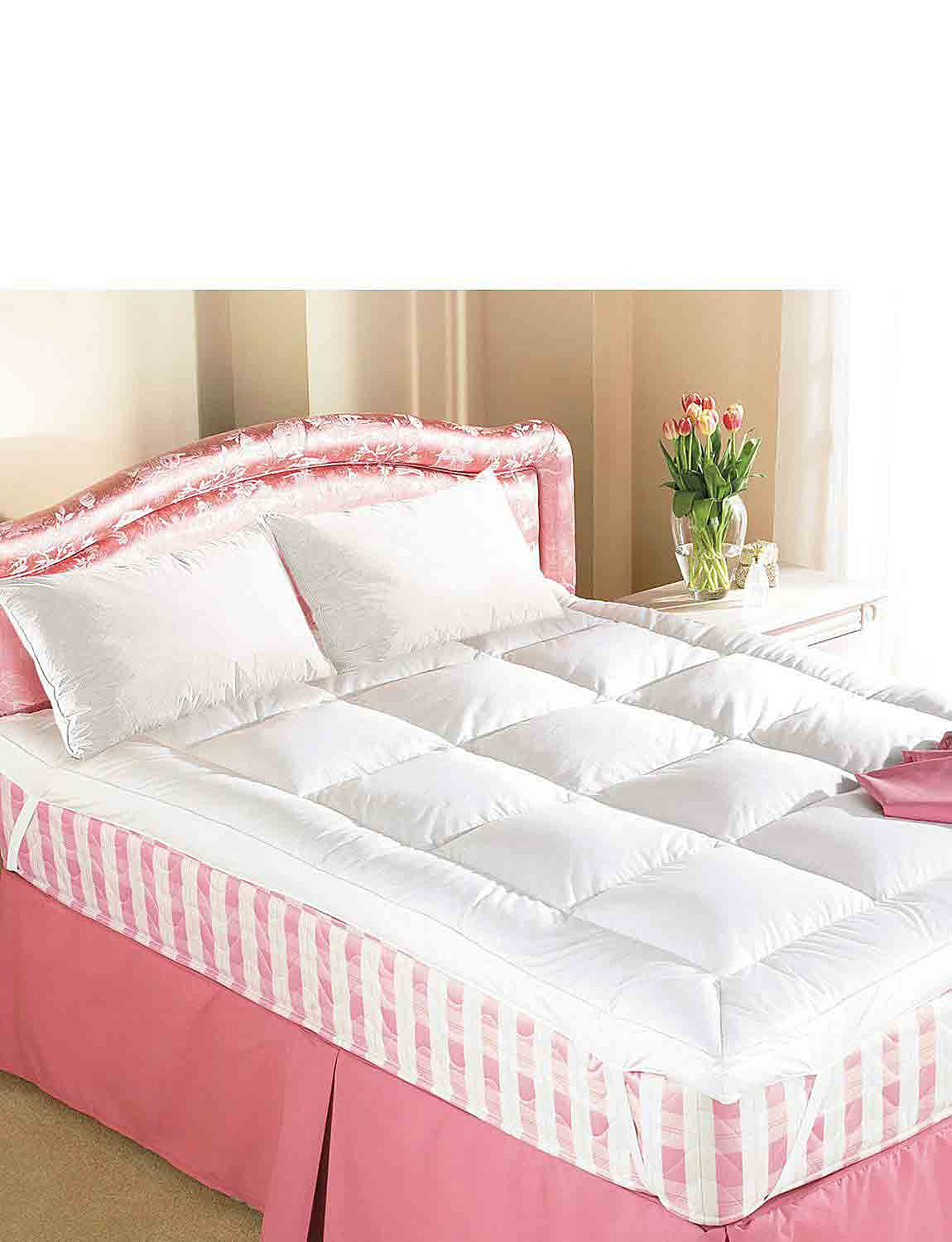 Hotel Quality Goose Feather & Down Mattress Topper  - White