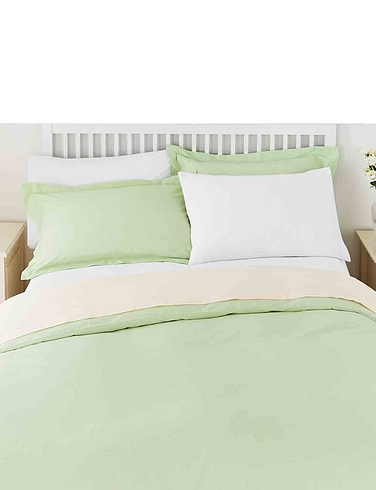 Superfine 200 Count Percale Poly/Cotton Duvet Cover by Belledorm