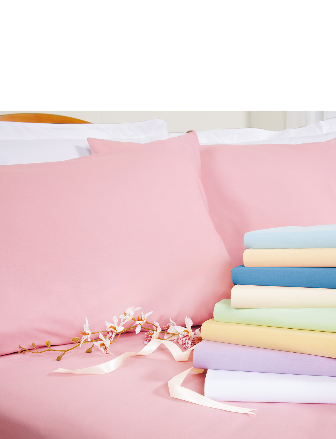 Superfine 200 Count Percale Poly/Cotton - Oxford Pillowcases