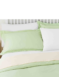 Superfine 200 Count Percale Poly/Cotton Oxford Pillowcases by Belledorm