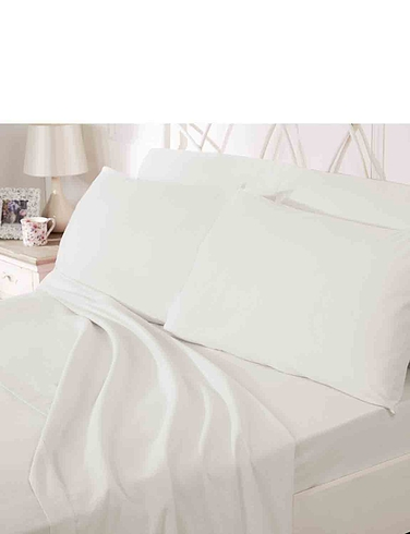 200 Count Plain Dyed Cotton Extra Deep Fitted Sheet  by Belledorm