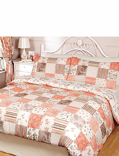 Toile Patchwork Quilt Cover Set
