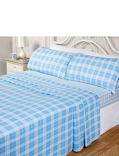 Check Flannelette Sheet Set