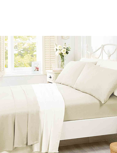 Supersoft Plain Dyed Flannelette Fitted Sheet by Belledorm