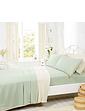 Supersoft Plain Dyed Flannelette Bedlinen by Belledorm - Flat Sheet