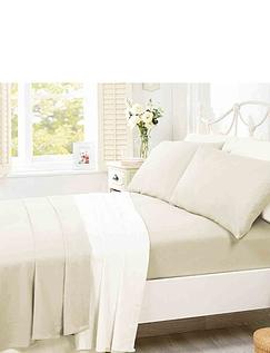 Super Soft Plain Dyed Flannelette Pillowcase by Belledorm