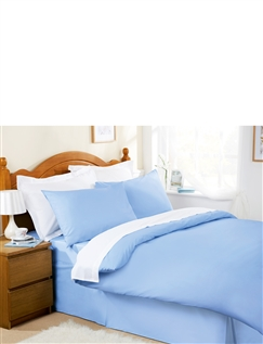 Plain Dyed Easy-Care Bedlinen by Belledorm Flat Sheet
