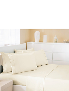 500 Thread-Count Cotton Rich Premium Flat Sheet by Belledorm