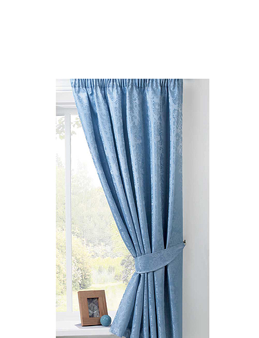 LANA LINED JACQUARD CURTAINS-TIE BACKS