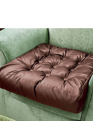 Faux Leather Booster Cusion