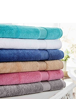 SUPREME LUXURY WEIGHT PLAIN TOWELS BY CHRISTY