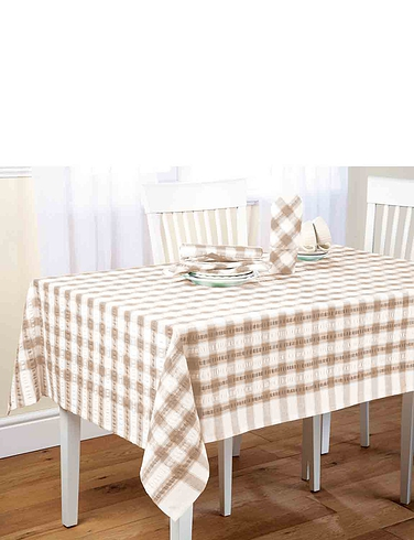 Seesucker Tablecloths And Napkins