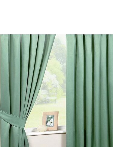 Lined Satin Curtains-Eyelet Heading