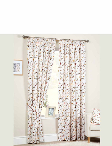 Leaf Trail Lined Curtains By Rectella