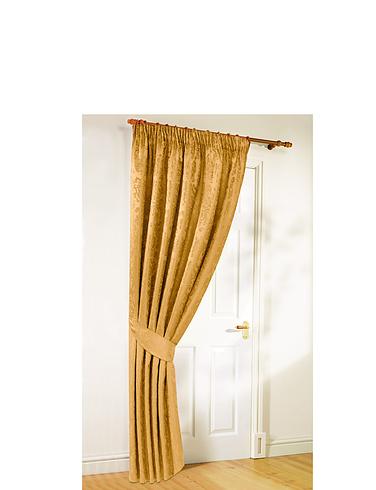 Lana Lined Jacquard Door Curtain